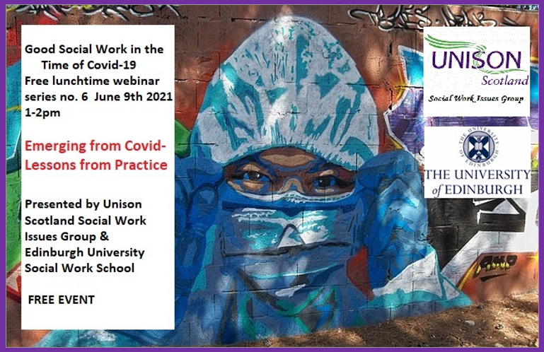 Lunchtime Webinar – Good Social Work in the time of Covid19
