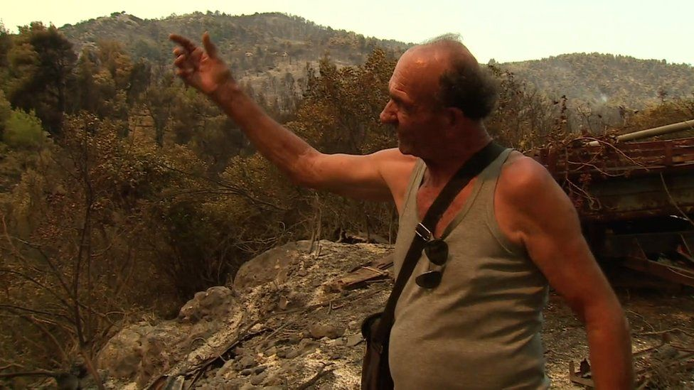 Wildfires are burning on the island of Evia –BBC